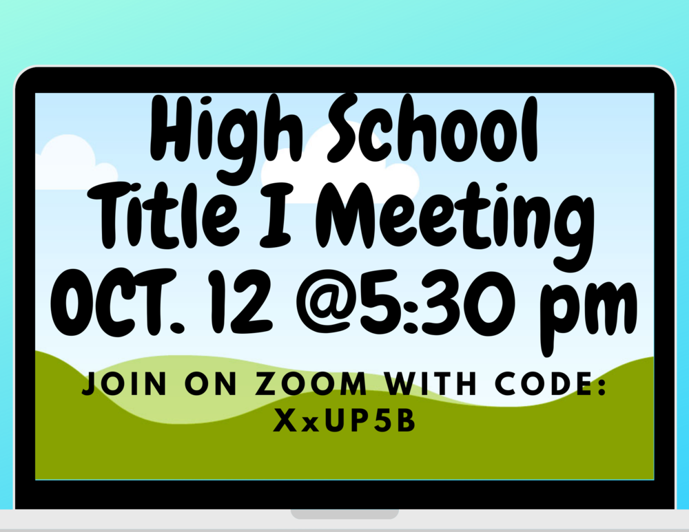 High School Title I Meeting